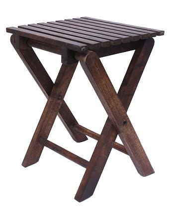Buy Home Sparkle Mango Wood Folding Stool-Cum-Table-Sh341 @ Rs. 1019