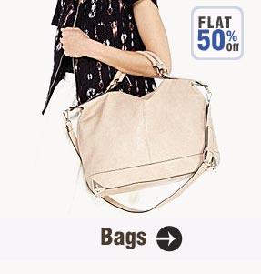 Get FLAT 50% OFF on Women's Handbags