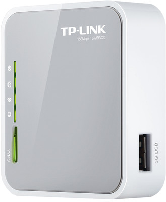 Buy TP-LINK TL-MR3020 Portable 3G/3.75G/4G Wireless N Router @ Rs. 1430